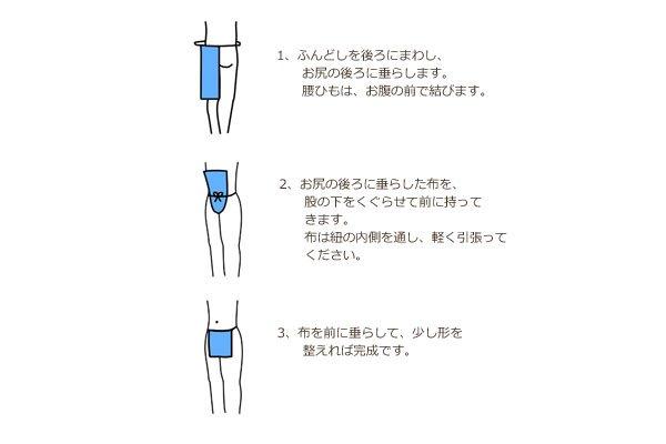 画像3: ブルーチェック×グレープ(リネン100%)【男性用】