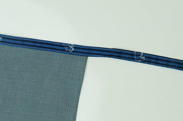 画像3: サイ×グレー(リネン100%)【男性用】前垂れデザインタイプ